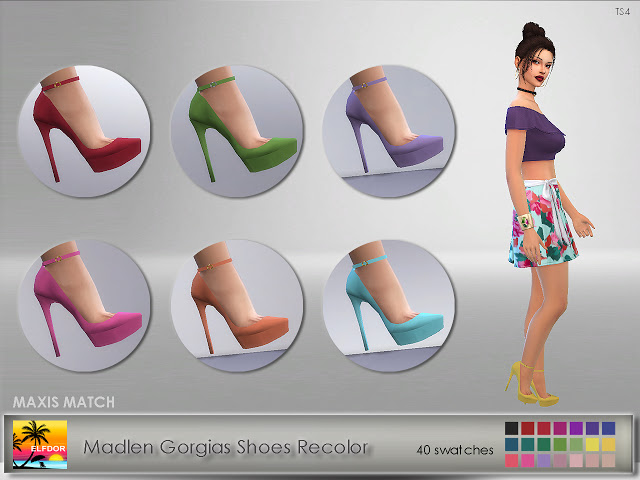 Madlen Gorgias Shoes Recolor at Elfdor Sims image 8413 Sims 4 Updates