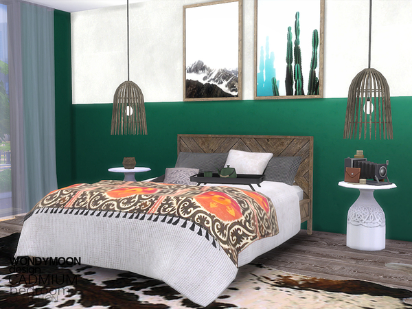 Cadmium Bedroom by wondymoon at TSR image 870 Sims 4 Updates