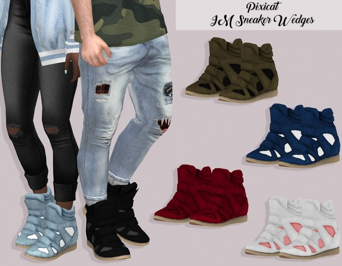 Sims 4 Pixicat IM Sneaker Wedges at Lumy Sims