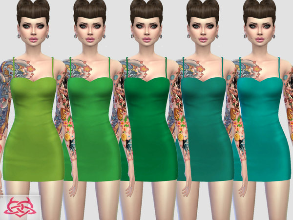 Sims 4 Mini dress 3 RECOLOR 1 by Colores Urbanos at TSR