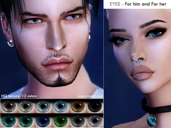 Sims 4 EYES for him and for her by ANGISSI at TSR
