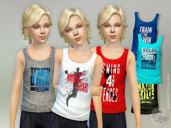 Sims 4 Tank Top Collection P03 by lillka at TSR