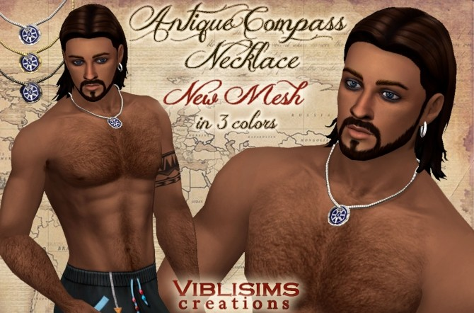 Antique Compass Necklace by Viblisims at Mod The Sims image 9113 670x442 Sims 4 Updates
