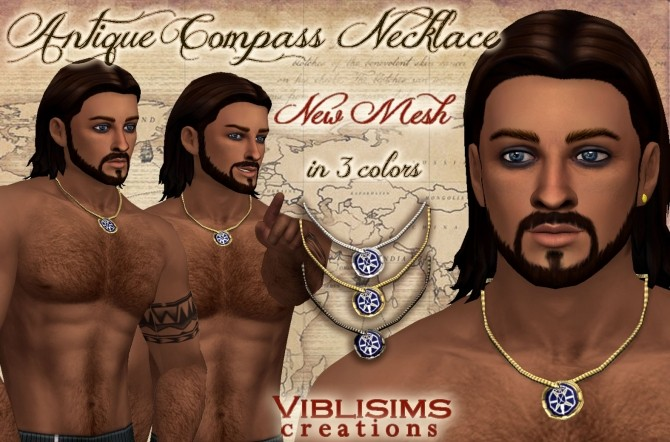 Antique Compass Necklace by Viblisims at Mod The Sims image 9210 670x442 Sims 4 Updates