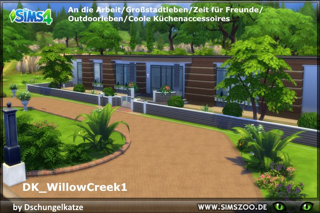 Dk willow creek 1 house by dschungelkatze at blacky s sims for Willow creek mansion