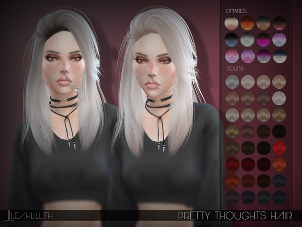Sims 4 Pretty Thoughts Hair by Leah Lillith at TSR