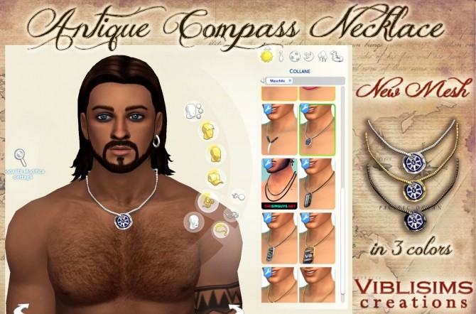 Antique Compass Necklace by Viblisims at Mod The Sims image 938 670x442 Sims 4 Updates