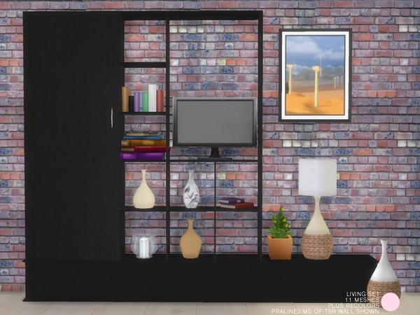 Sims 4 Living Set by DOT at TSR