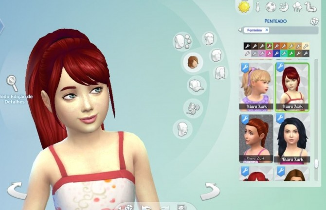 Sims 4 Confident Ponytail for Girls at My Stuff