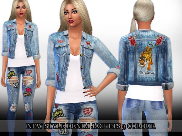 Sims 4 New Style Denim Jackets by Saliwa at TSR