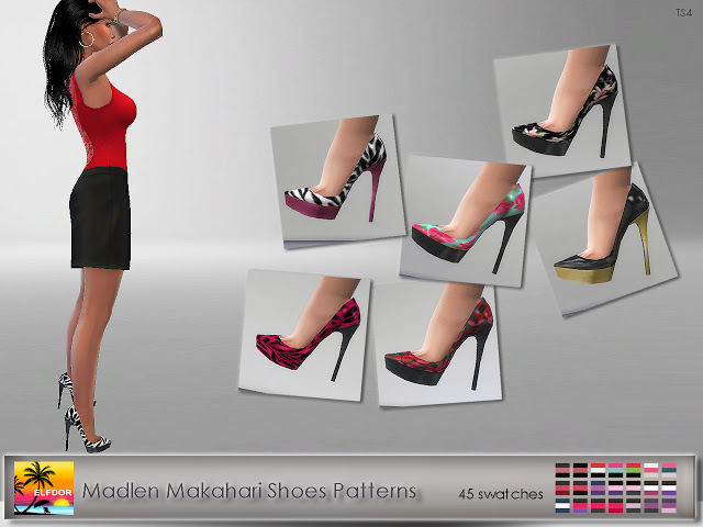 Sims 4 Madlen Makahari Shoes Patterns at Elfdor Sims