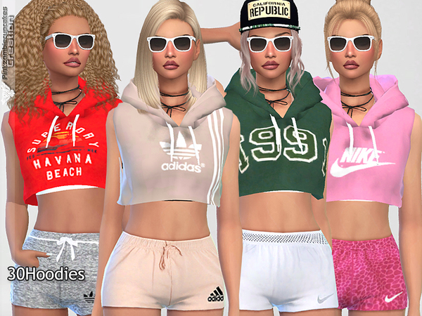 Sporty Hoodie Dreamer 010 by Pinkzombiecupcakes at TSR image 970 Sims 4 Updates