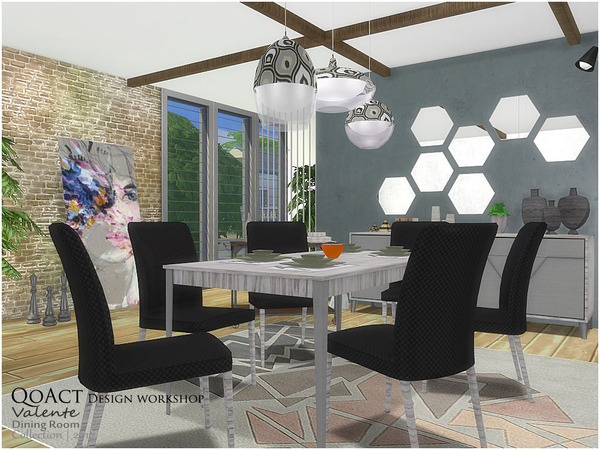 Valente Dining Room by QoAct at TSR image 980 Sims 4 Updates