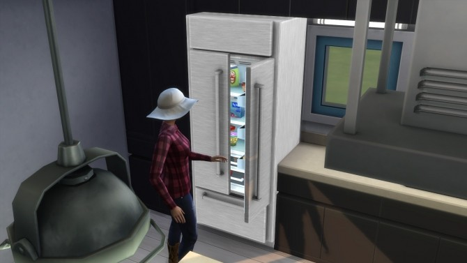 Sims 4 Cold Things Stainless French Door Refrigerator by ladymumm at Mod The Sims