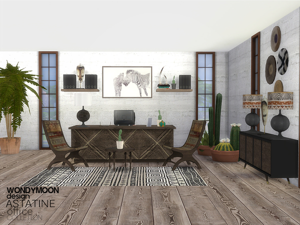 Astatine Office by wondymoon at TSR image 1010 Sims 4 Updates