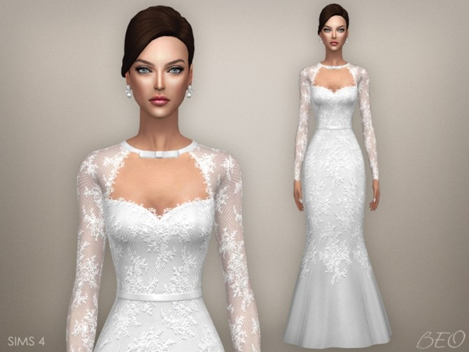 TATIANA WEDDING DRESS at BEO Creations image 10114 670x503 Sims 4 Updates