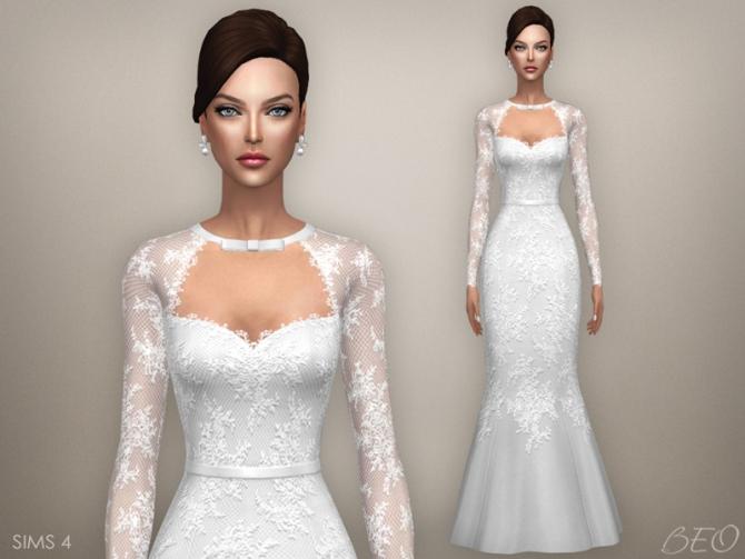 Tatiana Wedding Dress At Beo Creations 187 Sims 4 Updates