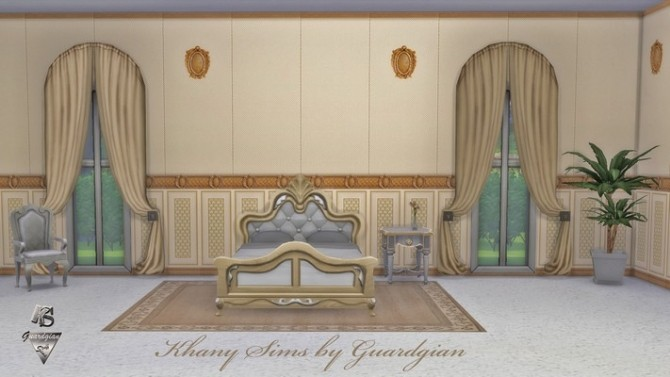 Sims 4 Boudoir walls by Guardgian at Khany Sims