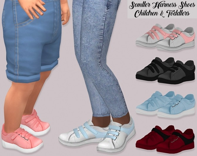 Sims 4 Semller Harness Shoes Children and Toddlers at Lumy Sims