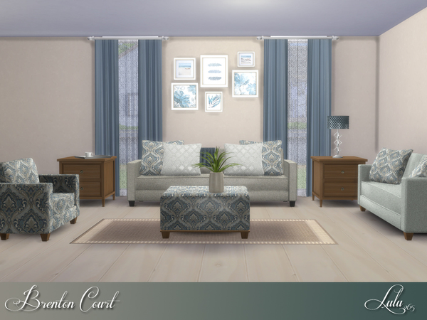 Sims 4 Brenton Court Living by Lulu265 at TSR