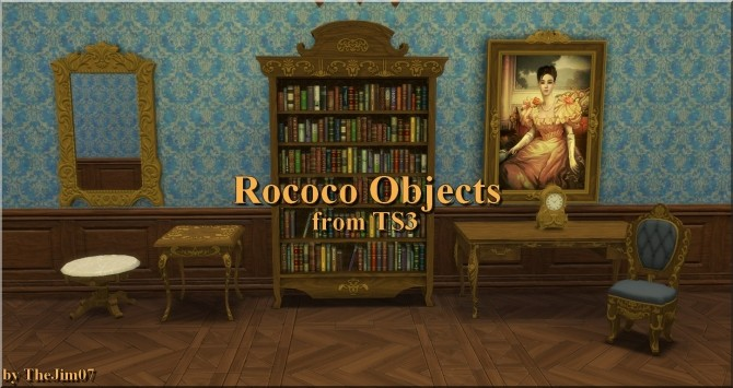 Sims 4 Rococo Objects converted by TheJim07 at Mod The Sims