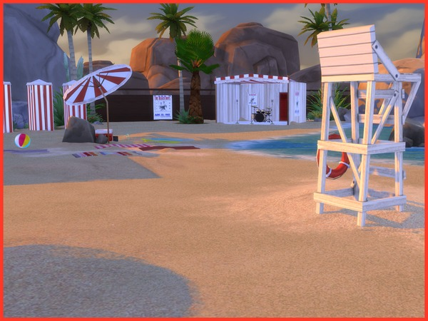 Vintage Beach set by Angela at TSR image 1028 Sims 4 Updates