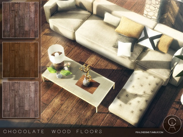 Chocolate Wood Floors by Pralinesims at TSR image 1030 Sims 4 Updates