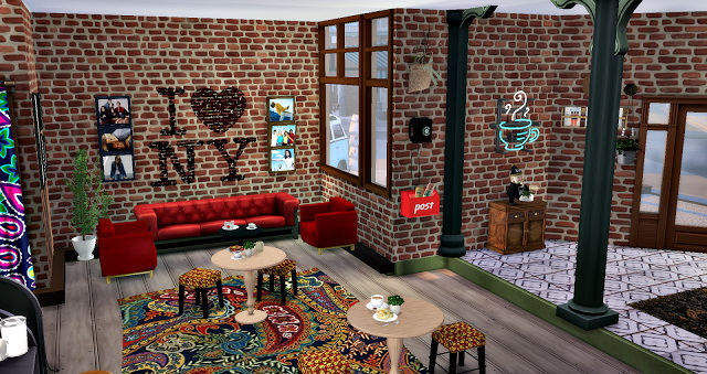Sims 4 Central Perk Friends at Lilly Sims