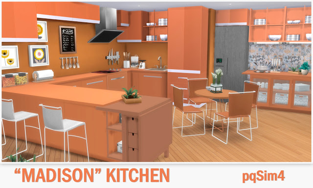 Sims 4 Kitchen Madison at pqSims4