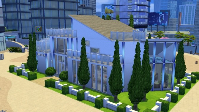 Modern Bachelor house by PolarBearSims at Mod The Sims image 1048 670x377 Sims 4 Updates