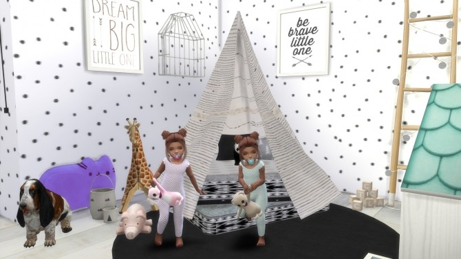FEMALE TWIN TODDLERS  + THEIR BEDROOM at PortugueseSimmer image 1050 670x377 Sims 4 Updates