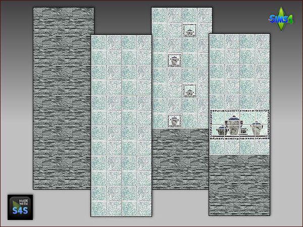 Sims 4 6 wallpaper sets for kitchen by Mabra at Arte Della Vita