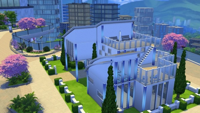 Modern Bachelor house by PolarBearSims at Mod The Sims image 1058 670x377 Sims 4 Updates