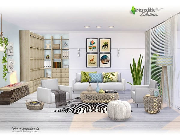 Solatium living room by SIMcredible at TSR image 1060 Sims 4 Updates