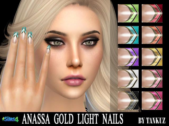 Anassa Gold Light Nails at Tankuz Sims4 image 1063 Sims 4 Updates