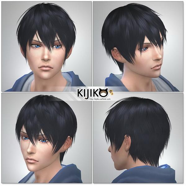 Sims 4 Loves to Swim hair TS3 to TS4 conversion at Kijiko