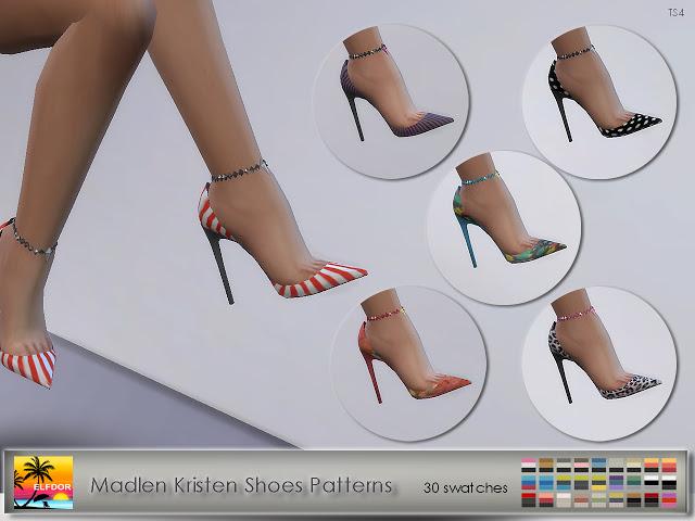 Sims 4 Madlen Kristen Shoes Patterns at Elfdor Sims