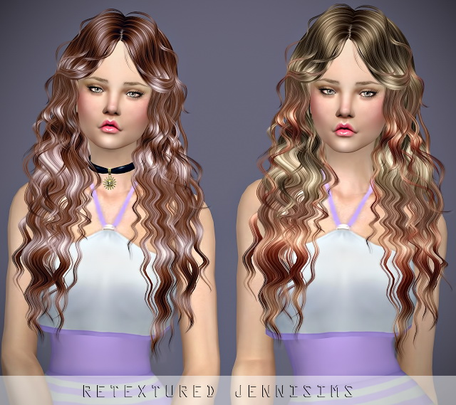Sims 4 Newsea NightWish Hair retexture at Jenni Sims