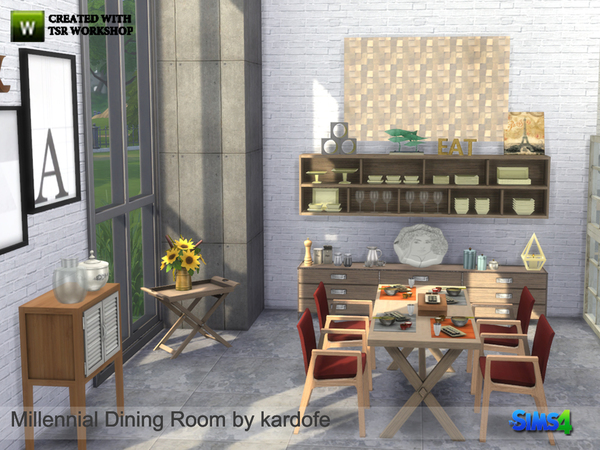 Millennial Dining Room by kardofe at TSR image 1090 Sims 4 Updates