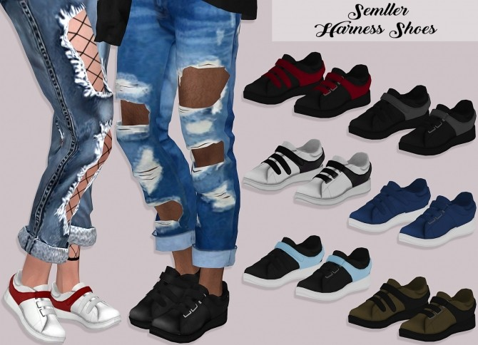 Sims 4 Semller Harness Shoes at Lumy Sims