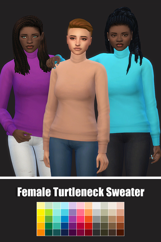 Female Turtleneck Sweater at Maimouth Sims4 image 11110 Sims 4 Updates
