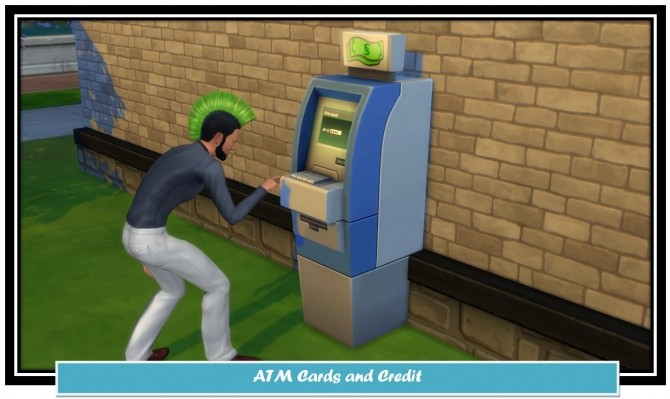 Sims 4 ATM Cards and Credit by LittleMsSam