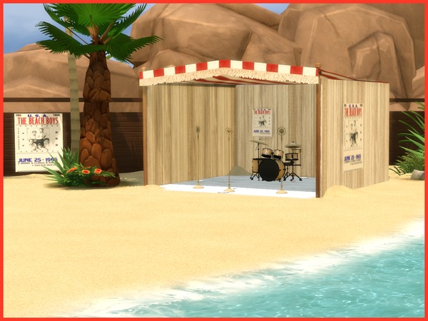 Vintage Beach set by Angela at TSR image 1127 Sims 4 Updates
