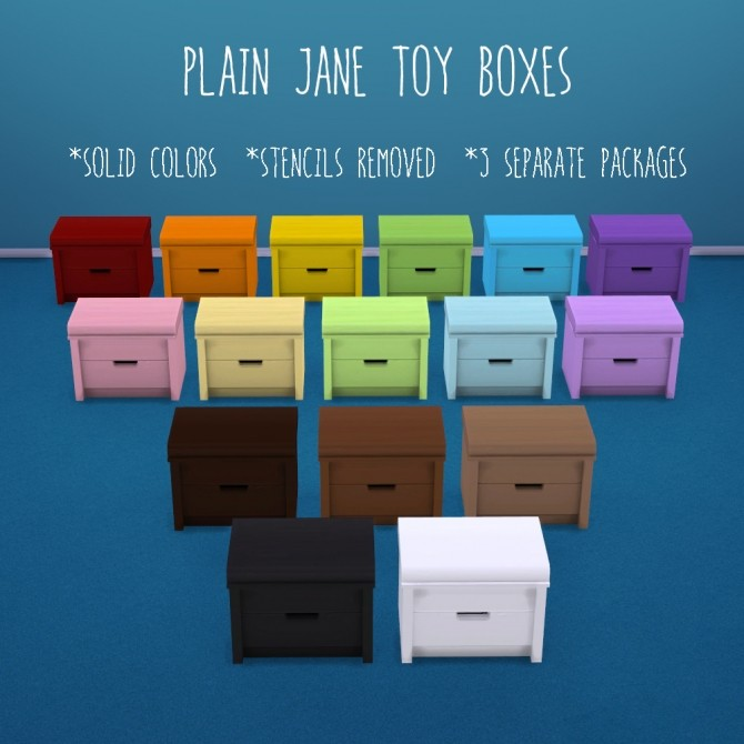 Plain Jane toy boxes at Deeliteful Simmer image 1131 670x670 Sims 4 Updates