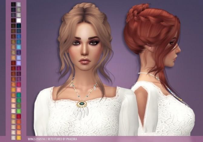 Sims 4 Wings OS0514 hair recolors at Phaedra