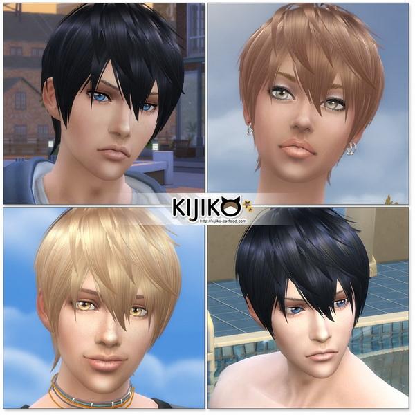 Sims 4 Loves to Swim hair TS4 edition at Kijiko
