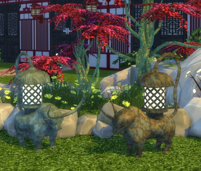 Bronze Cow Light by BigUglyHag at SimsWorkshop image 1147 670x569 Sims 4 Updates