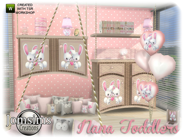 Nana toddlers bedroom by jomsims at TSR image 1149 Sims 4 Updates