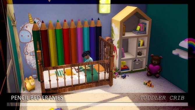 Pencil Bed Frames Double Single Toddler Crib At Enure Sims