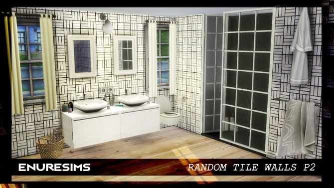 Sims 4 Random Tile Walls P2 at Enure Sims